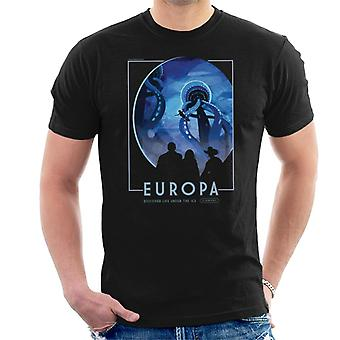 NASA Europa Interplanetary Travel Poster Men's T-Shirt