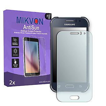 Samsung Galaxy J1 Ace Duos Screen Protector - Mikvon AntiSun (Retail Package with accessories)