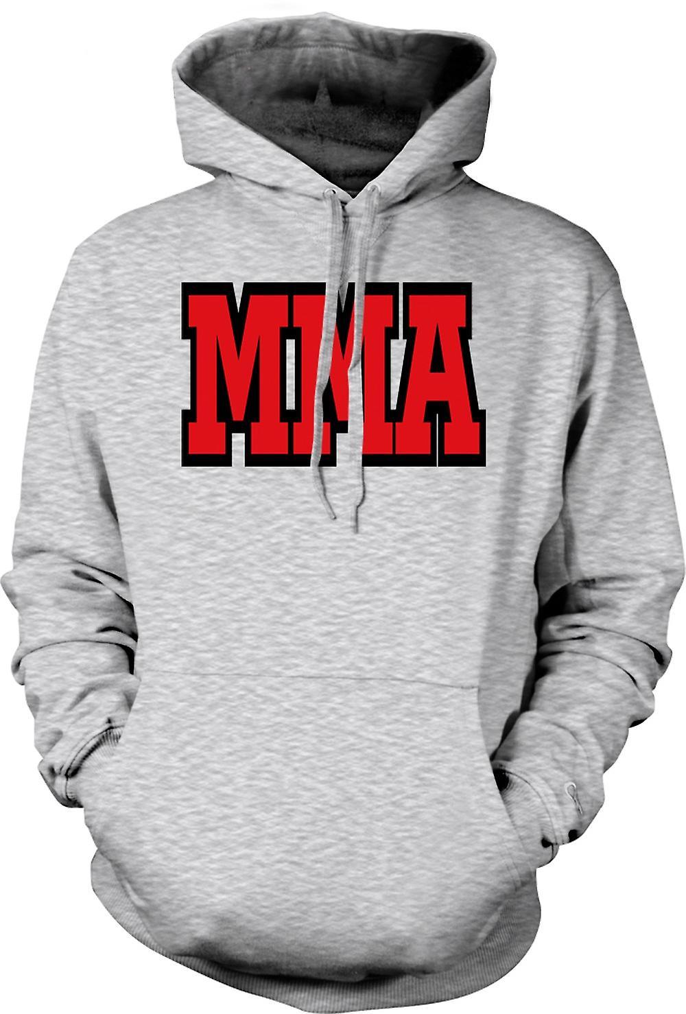Para hombre con capucha - MMA - artes marciales - lema