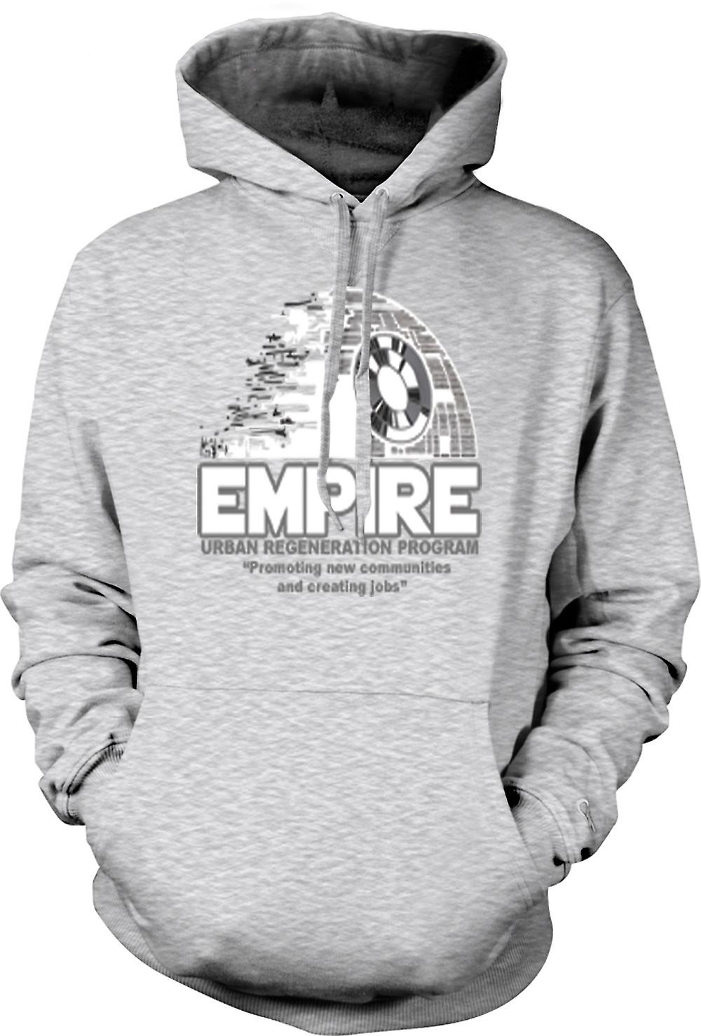 Mens Hoodie - Empire régénération urbaine Death Star - Star Wars