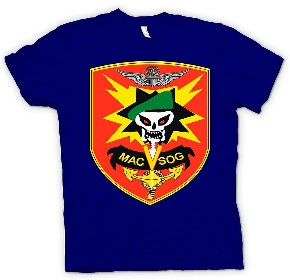 Heren T-shirt-MACV-SOG Special Forces Badge