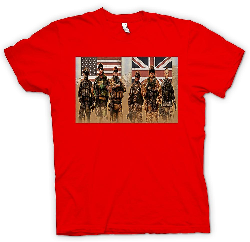 Mens T-shirt - US and UK Special Forces. SAS and Delta
