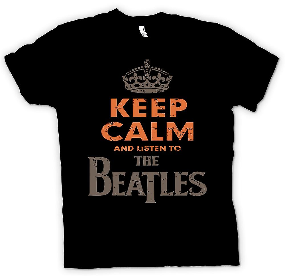 Womens T-shirt - Keep Calm And Listen To The Beatles