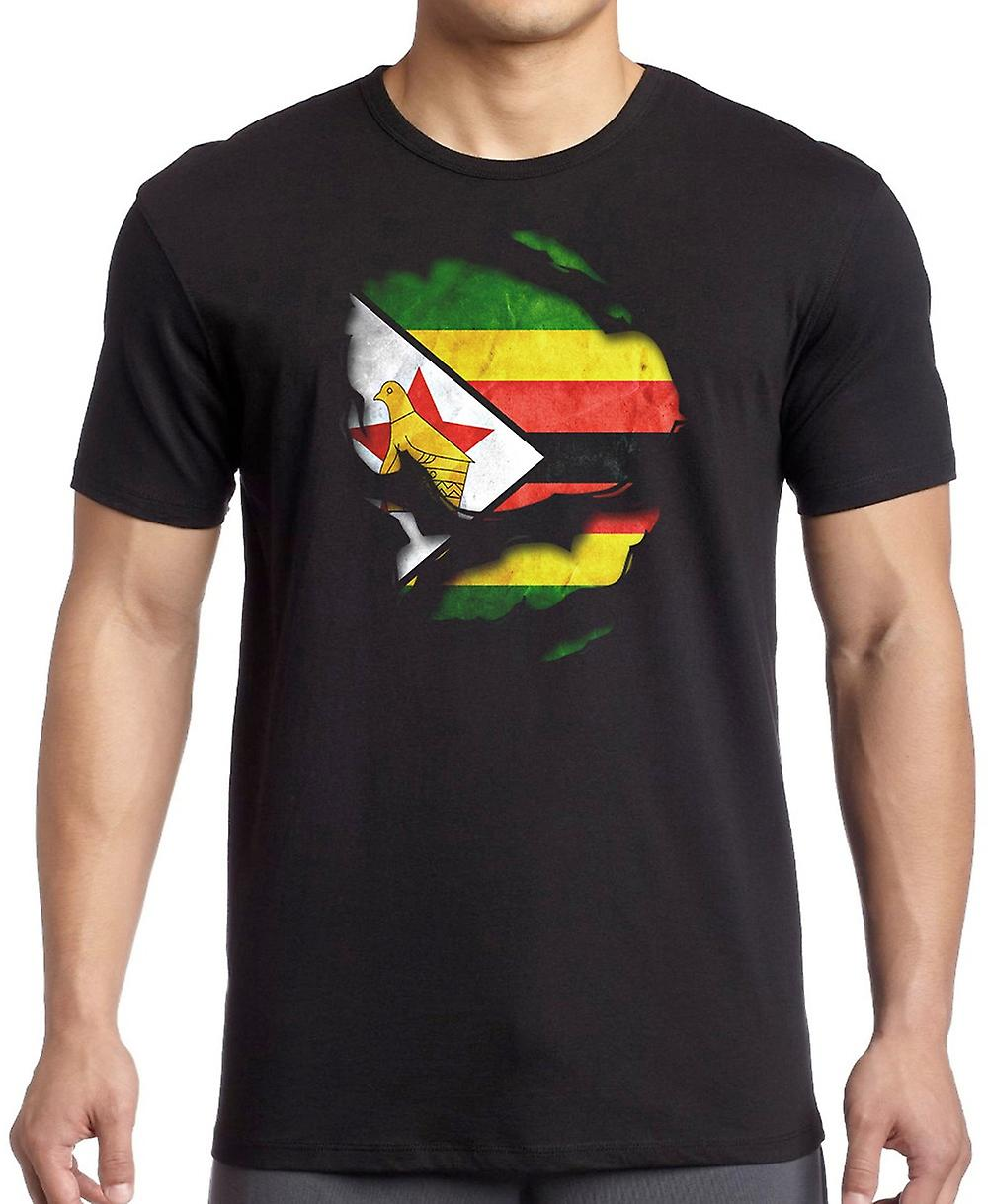 Zimbabwe Ripped Effect Under Shirt T Shirt