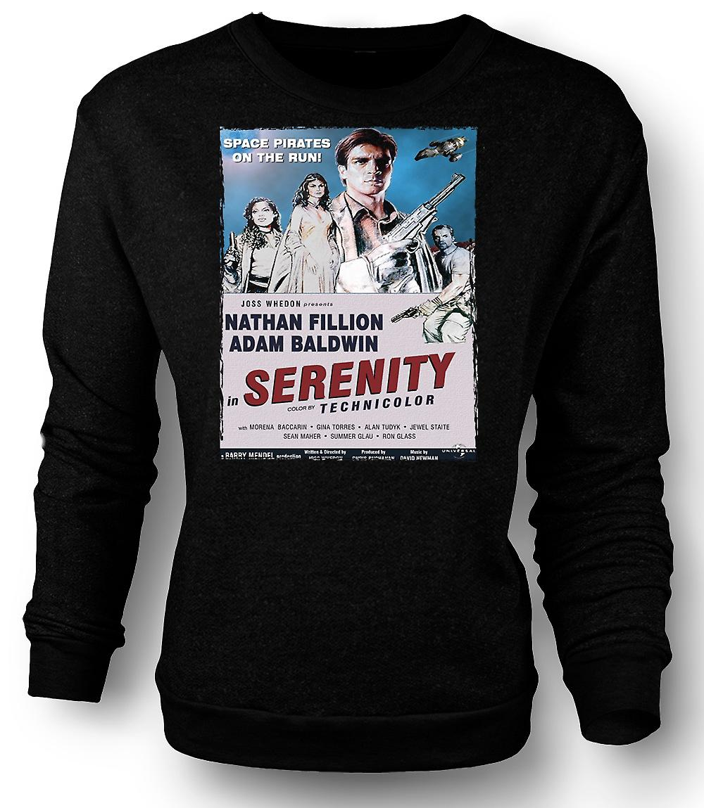 Mens Sweatshirt Serenity Space Western - B Movie