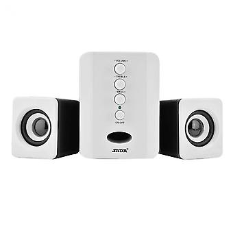 SADA D-202 Stereo speakers with Subwoofer, White