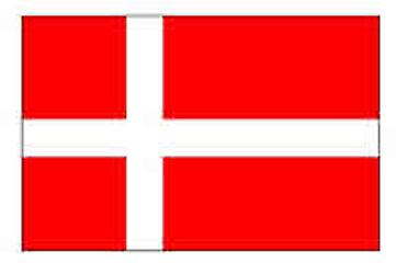 Danish Flag 5ft x 3ft With Eyelets For Hanging