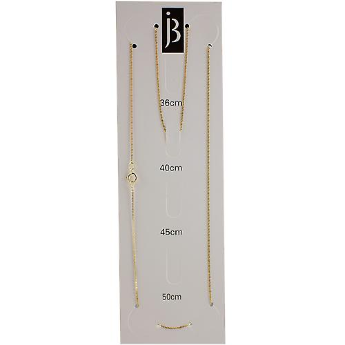 9ct Gold 0.6mm wide bright cut Curb Pendant Chain 16 inches Only Suitable for Children