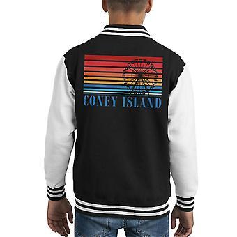 Coney Island Ferris Wheel Retro 70s Kid's Varsity Jacket