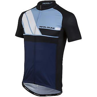 Pearl Izumi Diagonal Blue Elite Escape LTD Short Sleeved Cycling Jersey