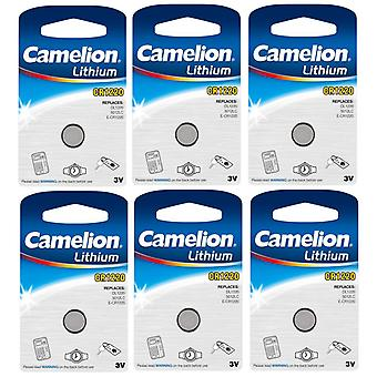 6-pack Camelion Battery CR1220 Lithium Button Cell 3V