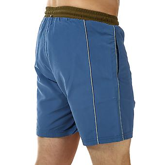 Mens Luke 1977 The Boxer Piped Shorts In Petrol Blue