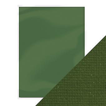 Craft Perfect A4 Weave Textured Card Avocado Green Tonic Studios