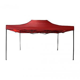 Møbler Rebecca Gazebo TendonFolding rød metall polyester 3x 4.5