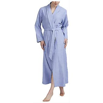 British Boxers Staffordshire Herringbone Flannel Robe - Blue