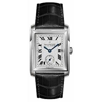 Dreyfuss Mens Black Leather Strap Silver Dial DGS00140/06 Watch
