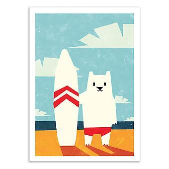Konst-affisch-Surf-Yetiland 50 x 70 cm