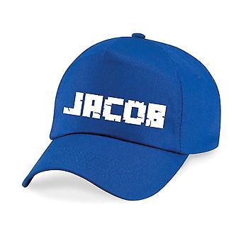 Kids Personalised Boys Name Font Baseball Cap