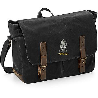 Royal Ulster Rifles RUR Veteran - Licensed British Army Embroidered Waxed Canvas Messenger Bag