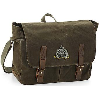 Suffolk Regiment - Licensed British Army Embroidered Waxed Canvas Messenger Bag