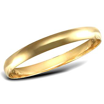 Jewelco Londen dames Solid 9ct geel gouden D-vorm 8mm Bangle Bracelet
