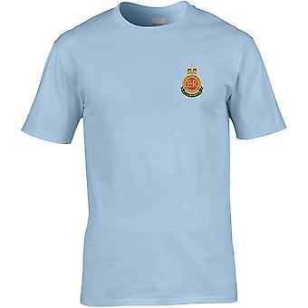 RMAS Royal Military Academy Sandhurst-lisensiert britiske hæren brodert Premium T-skjorte