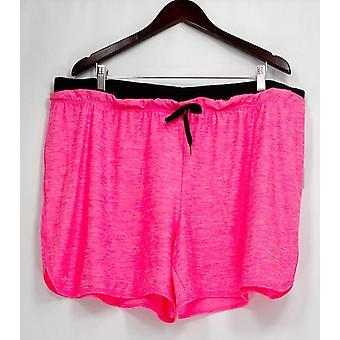 Ideology Plus Shorts Elastic Waistband Heathered Bright Pink