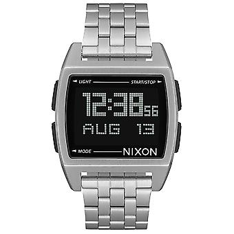Nixon the Base Watch for Digital Quartz Man with A1107000 Stainless Steel Bracelet