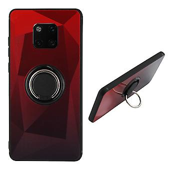 BackCover Ring / Magneet Aurora Huawei Mate 20 Pro Rood+Zwart