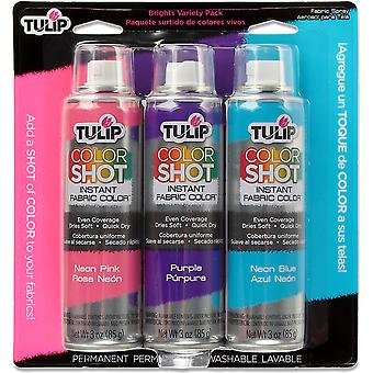 Tulip Color Shot Instant Fabric Color Spray 3/Pkg-Bright CLRSH3-33744