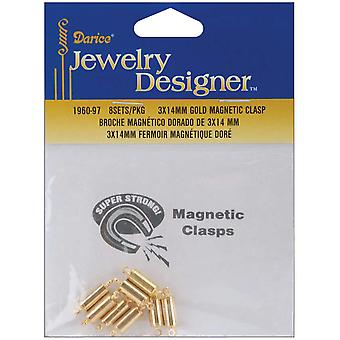 Fermoirs magnétiques 3X14mm Pkg 8 or 1960 97