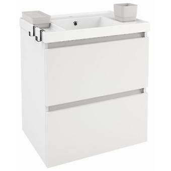 Bath+ Sink cabinet 2 drawers Gloss White Gloss 60CM