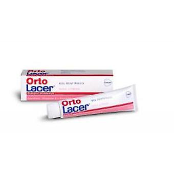 Lacer Ortolacer gel toothpaste strawberry 75 ml laminated