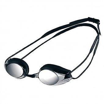 Arena Tracks Mirror Swim Goggle - Mirrored Lens - Silver/Black