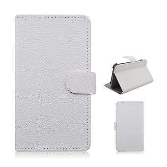 Typ PU lederen portemonnee cover voor de Samsung Galaxy S6 Edge (wit)