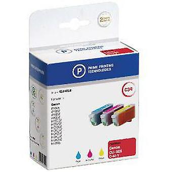 Prime Printing Technologies Cartridge 4184016 Replaces Canon Cli-526C/Cli-526M/Cli-526Y