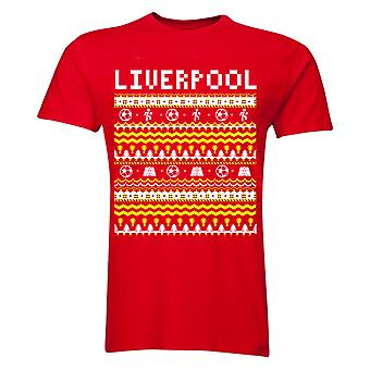 Liverpool Christmas T-Shirt (Red) - Kids
