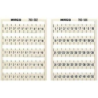 WAGO 793-4572 WMB-name Cards Compatible with (details): WAGO passage clamp series 2001