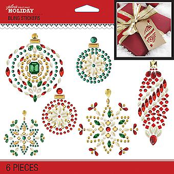 Jolee's Boutique Dimensional Stickers-Bling Holiday Ornaments E5051094