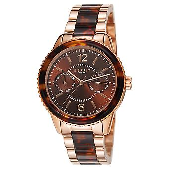ESPRIT ladies watch bracelet watch Marin tortoise stainless steel Rosé ES106742004