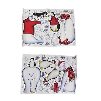 Polar Bear Buddies Reusable Peel and Stick Wall Decals