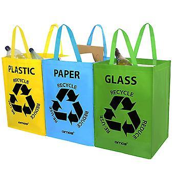 AMOS genanvendelse tasker (3 Pack)