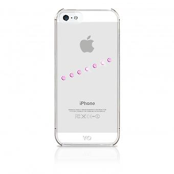 White DIAMONDS Shell iPhone 5/5s/SEE Sash Ice Pink