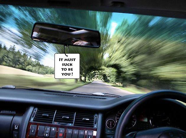 Het moet zuigen om u auto luchtverfrisser