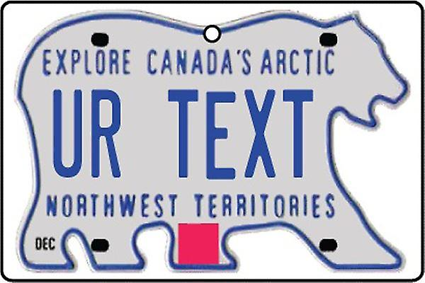 Custom Northwest Territories Numberplate Car Air Freshener