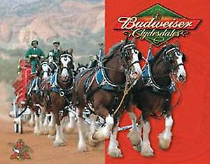 Budweiser Clydesdales metal sign (sf)
