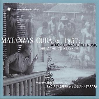Matanzas Cuba Ca 1957-Afro - Matanzas Cuba Ca 1957-Afro Cub [CD] USA importeren