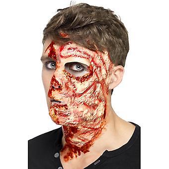 Verbranntes Gesicht Maske Halloween Burnt Face Branddeko