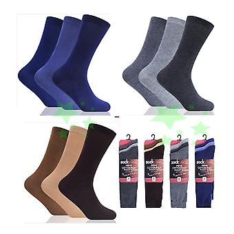 12 Pairs Lycra Cotton Rich Mens Socks UK 6-11 Size Every Day Socks
