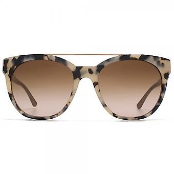 Giorgio Armani Metal Brow Sunglasses In Havana On Brown